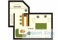 78-proekt.ru - Проект Одноквартирного Дома №261.  План Второго Этажа