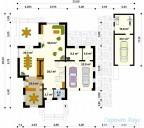 78-proekt.ru - Проект Одноквартирного Дома №310.  План Первого Этажа