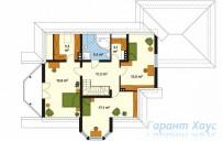 78-proekt.ru - Проект Одноквартирного Дома №142.  План Второго Этажа