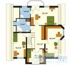 78-proekt.ru - Проект Одноквартирного Дома №297.  План Второго Этажа