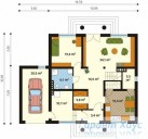 78-proekt.ru - Проект Одноквартирного Дома №70.  План Первого Этажа