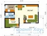 78-proekt.ru - Проект Дачного Дома №2.  План Первого Этажа
