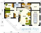 78-proekt.ru - Проект Одноквартирного Дома №285.  План Первого Этажа
