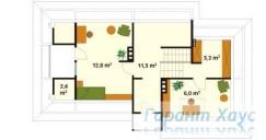 78-proekt.ru - Проект Одноквартирного Дома №158.  План Второго Этажа