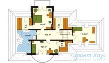 78-proekt.ru - Проект Одноквартирного Дома №326.  План Второго Этажа