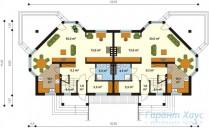 78-proekt.ru - Проект Двухквартирного Дома №23.  План Первого Этажа