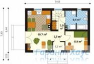 78-proekt.ru - Проект Одноквартирного Дома №204.  План Первого Этажа
