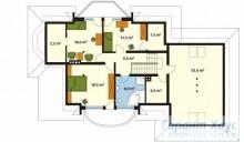 78-proekt.ru - Проект Одноквартирного Дома №15.  План Второго Этажа
