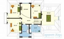 78-proekt.ru - Проект Одноквартирного Дома №121.  План Второго Этажа