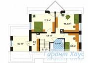 78-proekt.ru - Проект Одноквартирного Дома №169.  План Второго Этажа