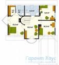 78-proekt.ru - Проект Одноквартирного Дома №43.  План Второго Этажа