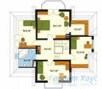 78-proekt.ru - Проект Одноквартирного Дома №115.  План Второго Этажа