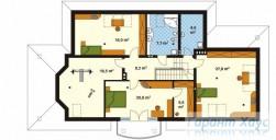 78-proekt.ru - Проект Одноквартирного Дома №56.  План Второго Этажа