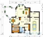 78-proekt.ru - Проект Одноквартирного Дома №152.  План Первого Этажа