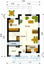78-proekt.ru - Проект Одноквартирного Дома №218.  План Первого Этажа