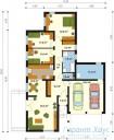 78-proekt.ru - Проект Одноквартирного Дома №251.  План Первого Этажа