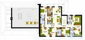 78-proekt.ru - Проект Гостиницы №4.  План Второго Этажа