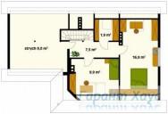 78-proekt.ru - Проект Одноквартирного Дома №285.  План Второго Этажа