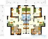 78-proekt.ru - Проект Двухквартирного Дома №26.  План Первого Этажа