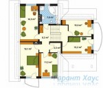 78-proekt.ru - Проект Одноквартирного Дома №296.  План Второго Этажа