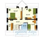 78-proekt.ru - Проект Одноквартирного Дома №171.  План Второго Этажа