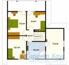 78-proekt.ru - Проект Одноквартирного Дома №136.  План Второго Этажа