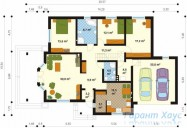 78-proekt.ru - Проект Одноквартирного Дома №150.  План Первого Этажа