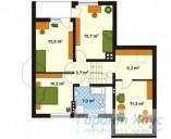 78-proekt.ru - Проект Одноквартирного Дома №339.  План Второго Этажа