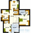 78-proekt.ru - Проект Одноквартирного Дома №310.  План Второго Этажа