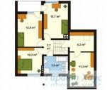 78-proekt.ru - Проект Одноквартирного Дома №268.  План Второго Этажа