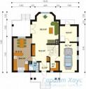 78-proekt.ru - Проект Одноквартирного Дома №114.  План Первого Этажа