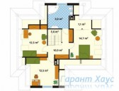 78-proekt.ru - Проект Одноквартирного Дома №327.  План Второго Этажа