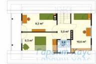 78-proekt.ru - Проект Одноквартирного Дома №291.  План Второго Этажа