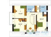 78-proekt.ru - Проект Одноквартирного Дома №193.  План Второго Этажа