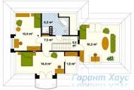 78-proekt.ru - Проект Одноквартирного Дома №76.  План Второго Этажа