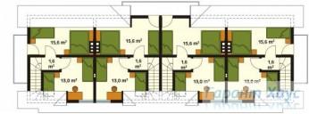 78-proekt.ru - Проект Двухквартирного Дома №8.  План Второго Этажа