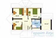 78-proekt.ru - Проект Одноквартирного Дома №274.  План Второго Этажа