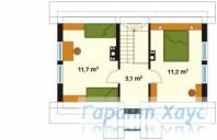 78-proekt.ru - Проект Одноквартирного Дома №204.  План Второго Этажа
