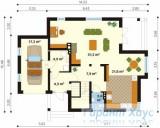 78-proekt.ru - Проект Одноквартирного Дома №207.  План Первого Этажа