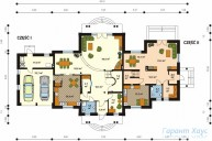 78-proekt.ru - Проект Двухквартирного Дома №16.  План Первого Этажа