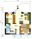 78-proekt.ru - Проект Одноквартирного Дома №168.  План Первого Этажа