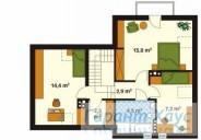 78-proekt.ru - Проект Одноквартирного Дома №134.  План Второго Этажа