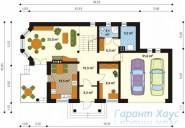 78-proekt.ru - Проект Одноквартирного Дома №17.  План Первого Этажа