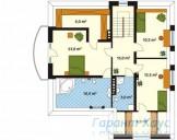 78-proekt.ru - Проект Одноквартирного Дома №148.  План Второго Этажа