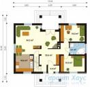 78-proekt.ru - Проект Одноквартирного Дома №2.  План Первого Этажа