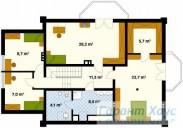 78-proekt.ru - Проект Одноквартирного Дома №224.  План Второго Этажа