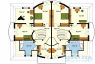 78-proekt.ru - Проект Двухквартирного Дома №20.  План Второго Этажа