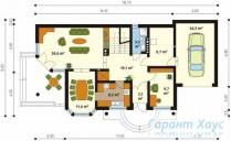 78-proekt.ru - Проект Одноквартирного Дома №244.  План Первого Этажа