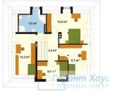 78-proekt.ru - Проект Одноквартирного Дома №67.  План Второго Этажа