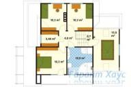 78-proekt.ru - Проект Одноквартирного Дома №120.  План Второго Этажа